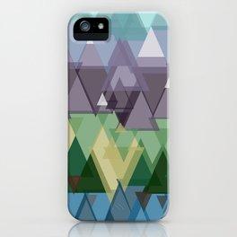 Geometric Mountain. iPhone Case