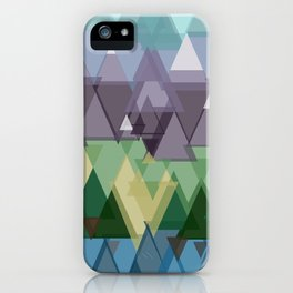Geometric Mountain. iPhone Case