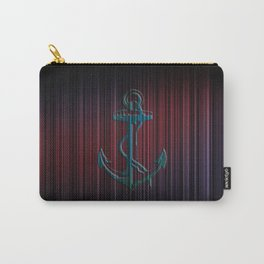 Anchor Stripes Watercolor Carry-All Pouch