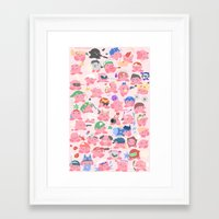 hats Framed Art Prints featuring (SSB) Hats! Hats! Hats! by Crispy