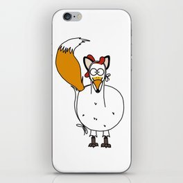 Eglantine la poule (the hen) dressed up as a fox. iPhone Skin