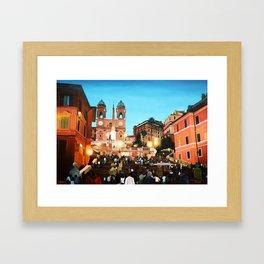 Scalinata di Trinità dei Monti Framed Art Print