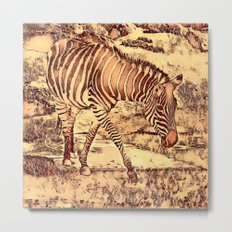 Animal ArtStudio -amazing Zebra Metal Print
