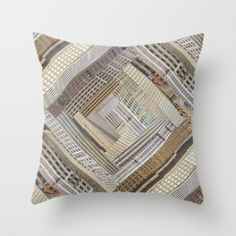 Skyscraper Quilt Throw Pillow
