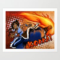 the legend of korra Art Prints featuring Korra! by Vadsana