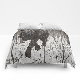 Snow Wolf Comforters