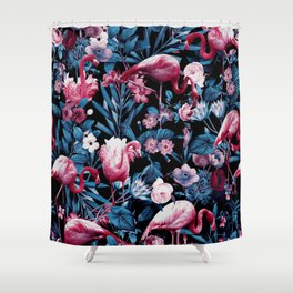 Floral and Flamingo VIII Shower Curtain