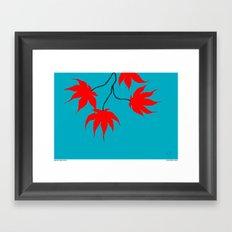 Japanese Maple Leaves Framed Art Print