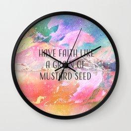 Faith Mountain Wall Clock