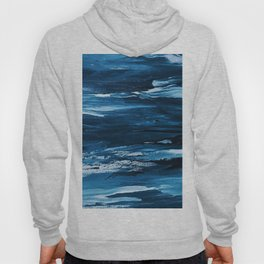 Blue Brush Strokes (Color) Hoody