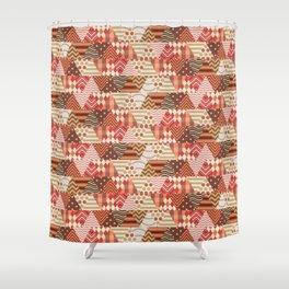 Triangle Fall Autumn Pattern Shower Curtain