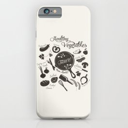 Health Vegetables iPhone Case