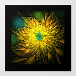 flames on black -1- Canvas Print