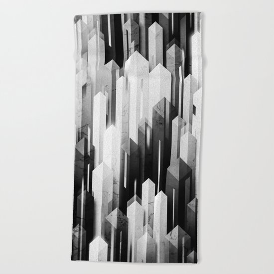 obelisk posture 3 (monochrome series) Beach Towel