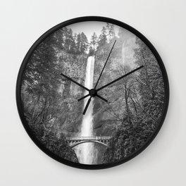 MULTNOMAH FALLS / Oregon Wall Clock