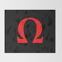 Ω omega Throw Blanket