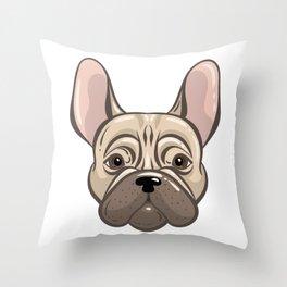 Cute Adorable French Bulldog Throw Pillow