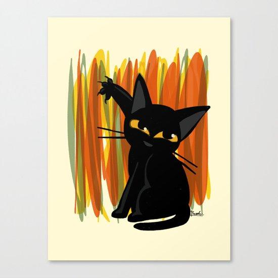 Cat artist Canvas Print