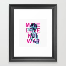 Make Love Not War Framed Art Print