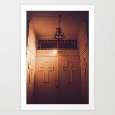 church doors Art Print