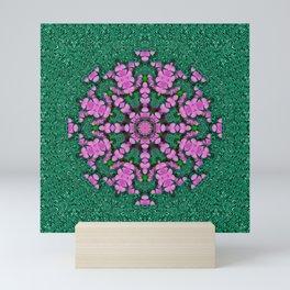 the most uniqe flower star in ornate glitter Mini Art Print