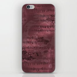 Sheet Music - Mixed Media Partiture #3 iPhone Skin
