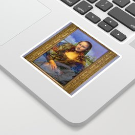 Mona (Kevin) Lisa : Satire + Contemporary Fine Art Sticker