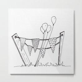 Quirky Celebratory Decorations Metal Print