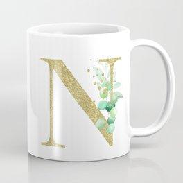 Letter N Monogram Coffee Mug