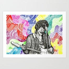'Scuse me while I kiss the sky... Art Print
