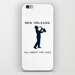 New Orleans Music Festival Jazz Saxophone Musician Design iPhone Skin
