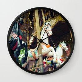 Carousel Horses (merry-go-round), Paris Vintage Photography Wall Clock