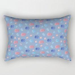 Chinese Lanterns and Firework Pattern Rectangular Pillow