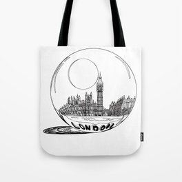 London in a glass ball . art Tote Bag