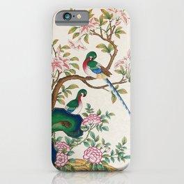 Minhwa: Birds and Royal azalea (Korean traditional/folk art) iPhone Case