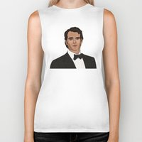 napoleon Biker Tanks featuring Napoleon Solo by Grace Teaney Art