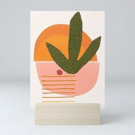 Desert Sunset With Cactus and Cherry Mini Art Print