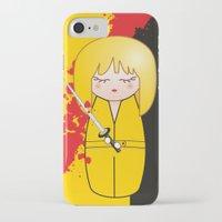 kill bill iPhone & iPod Cases featuring Kokeshi Beatrix of Kill Bill by Pendientera