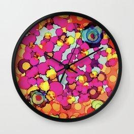 Loving bubble flowers Wall Clock