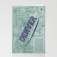 denver Stationery Cards featuring Denver by Dweezle