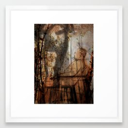 Afterlife Drawing - Peach  Framed Art Print