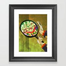 The Joker in The Mirror Framed Art Print