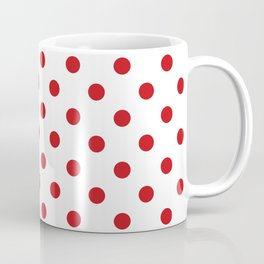 Red Polka Dots Coffee Mug
