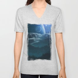 Alien Cloudscape Unisex V-Neck