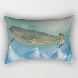 Flying Narwhals Rectangular Pillow