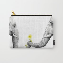 """Up Close You Are More Wrinkly Than I Remembered"" Carry-All Pouch"