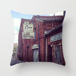Blues Alley (Washington, DC) Throw Pillow