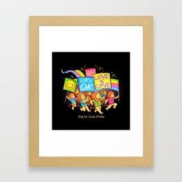 Lion Pride Framed Art Print