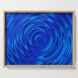 Water Moon Cobalt Swirl Serving Tray