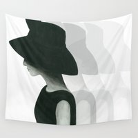 audrey Wall Tapestries featuring Audrey by Christine Khoury Illustrations